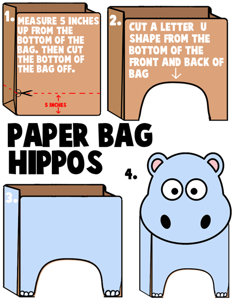 How to Make Brown Paper Bag Hippos