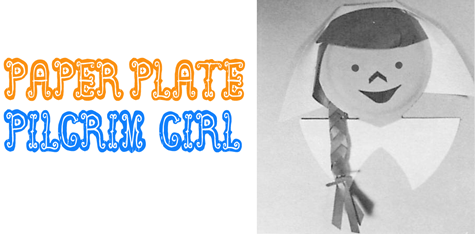 Making Paper Plate Pilgrim Girls