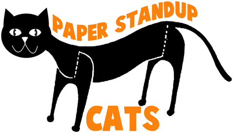 Easy to Make Standing Paper Black Cat
