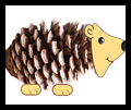 How to Make pinecone hedgehogs