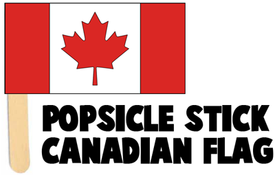 How to Make Popsicle Stick Canadian Flags