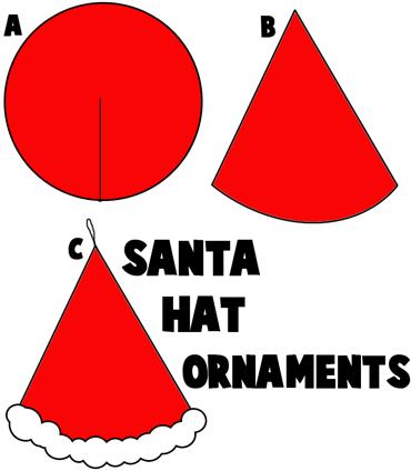 Santa Clause Hat Christmas Ornaments