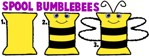 Making Bumblebees with Thread Spools