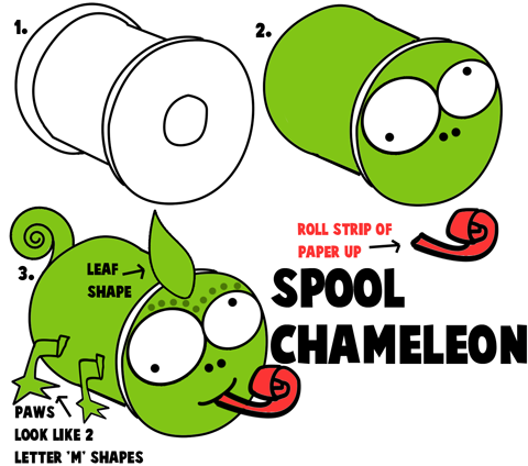 Chameleon Crafts For Kids Ideas To Make Chameleons With Easy Arts