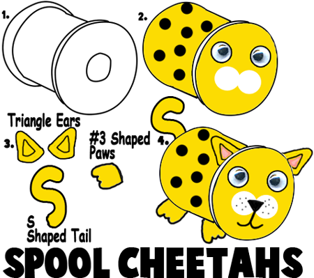 Cheetah Crafts For Kids Ideas To Make Cheetahs With Easy Arts And
