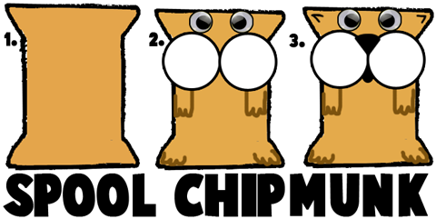 Making Spool Chipmunks