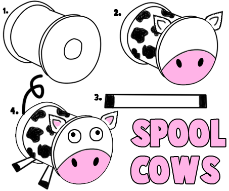 How to Make Spool Cows
