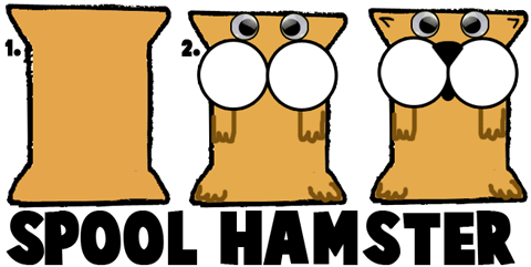 Making Spool Hamsters