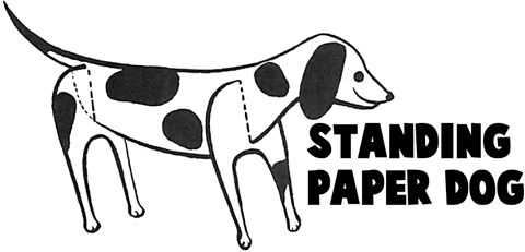 Standing Paper Dogs