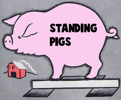 Standing Paper Pigs