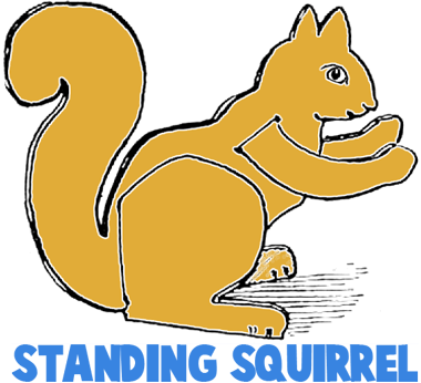 Standing Paper Squirrels