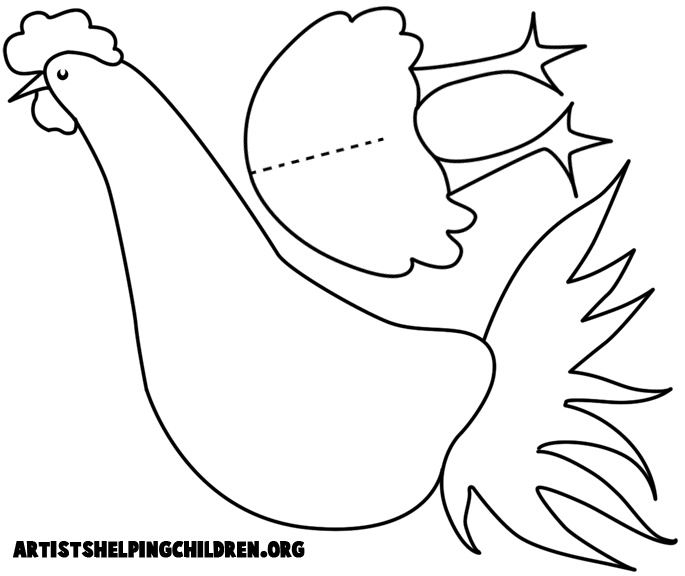 photo relating to Rooster Template Printable titled Hen Crafts for Youngsters: Generate your personalized arts and crafts
