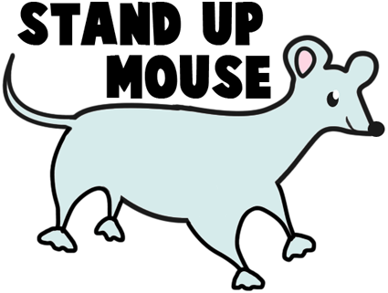 Stand Up Paper Mouse