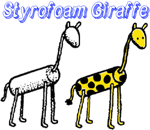 giraffe head and neck cartoon