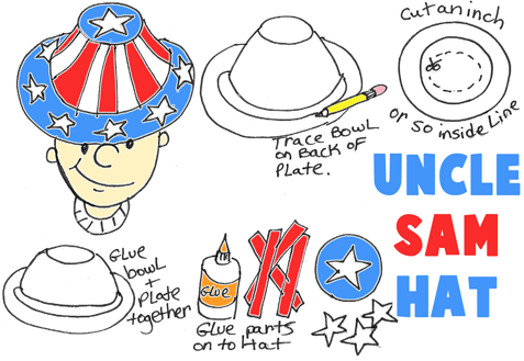 Make Uncle Sam's Hat for Independence Day Parades