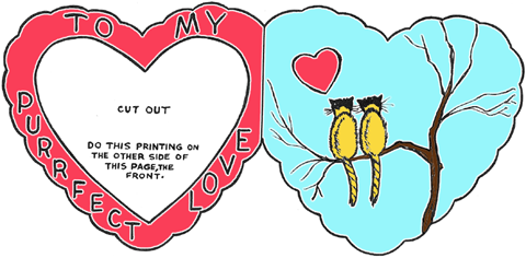 a purr fect valentines day card - Valentine Day Cards For Kids