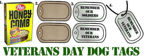 Veterans Day Dog Tags