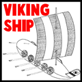 Viking Ship Model Toy