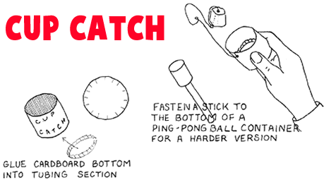 Wooden Cup Catching Game