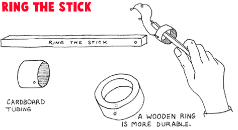 How to Make a Wood Ring the Stick Game