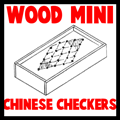 Wood Mini Chinese Checkers Game