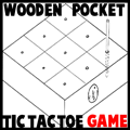 Wooden Pocket Tic-Tac-Toe
