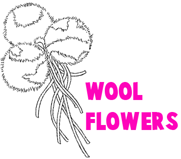 Wool Yarn Flowers
