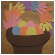 Handprint Easter Basket Crafts Idea for Kids