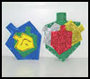 Colorful Chanukah Dreidel Mangets