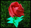 How to Make Origami Roses Paper Folding Lessons