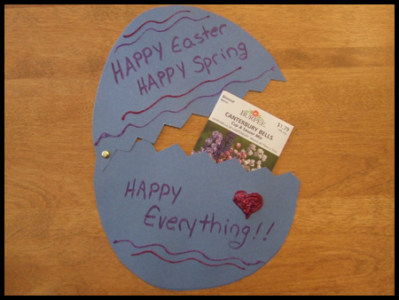 Surprise Easter Egg Card Crafts Idea for Kids