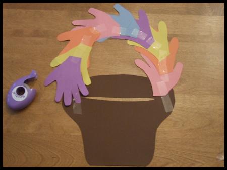 Handprint Easter Basket Craft for