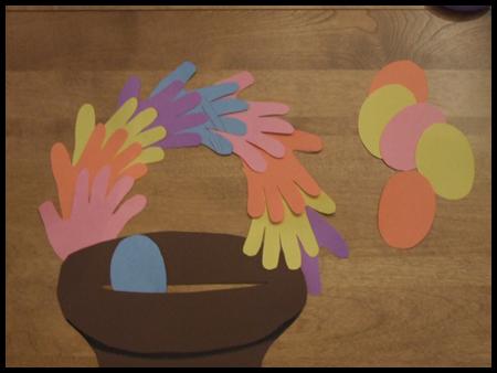 Handprint Easter Basket Craft For Kids Easter Crafts