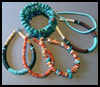 Indian    Turquoise Bracelets   : Columbus Day Crafts Activities for Children