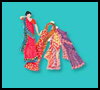 Indian    Sari Paper Dolls   : Diwali Crafts Activities for Children