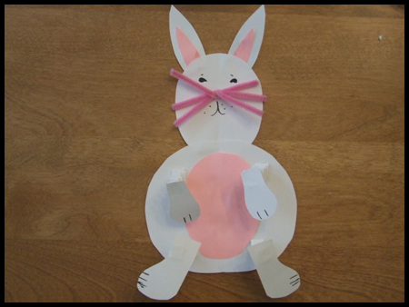 Craft Ideas Images on Springy Arms And Legs Easter Bunny Craft Project For Kids