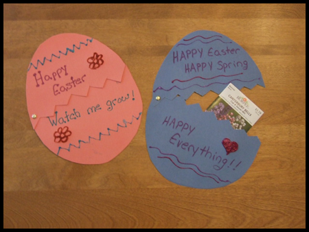 Surpise Easter Egg Card Craft for Kids