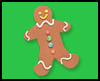 Gingerbread    Magnet  : Gingerbread Man Craft for Kids