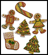 Faux    Gingerbread People/Ornaments  : Gingerbread Man Craft for Kids