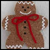 Cork    Faux Gingerbread Man  : Gingerbread Man Craft for Kids