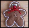 Felt    Gingerbread Man  : Gingerbread Man Craft for Kids