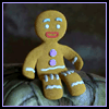 Gingerbread Man Foam or Wood Magnets