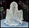 Gauzy   Ghost Decoration  : How to Make Halloween Ghosts Crafts