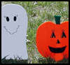 Ghost   Yard Decoration  : Spooky Ghosts Crafts Projects for Children