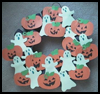 Ghostly   Halloween Wreath  : Making Ghosts with Arts and Crafts Activities