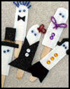Ghost   and Ghoul Party Puppets  : How to Make Halloween Ghosts Crafts