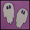 Handprint   Ghosts  : Spooky Ghosts Crafts Projects for Children