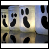 Easy   Ghost Luminaries  : Halloween Ghost Crafts Ideas for Kids