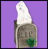 Ghostly   Gravestone  : Making Ghosts with Arts and Crafts Activities