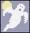 Cross   Stitch Ghost  : Halloween Ghost Crafts Ideas for Kids